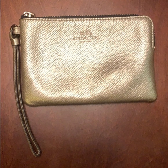 Metallic Gold Coach Wristlet *USED*